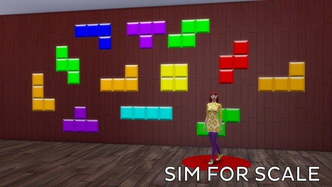Tetris Wall Sticker by Ahinana at Mod The Sims image 403 670x377 Sims 4 Updates