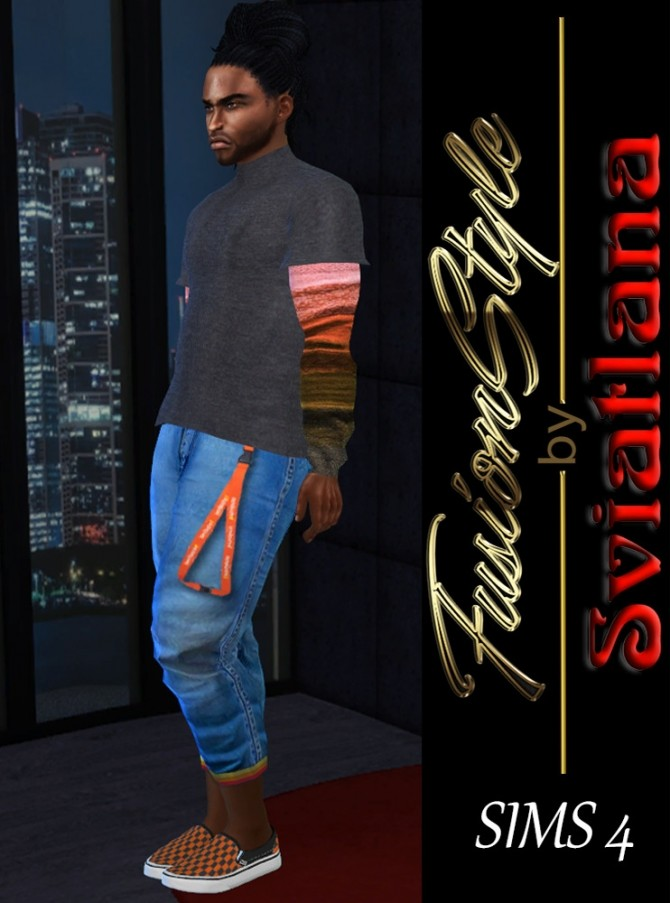 Sims 4 Stylish sweater M at FusionStyle by Sviatlana