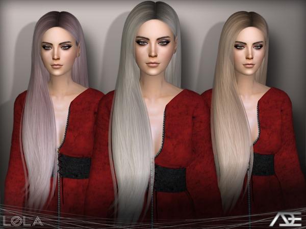 Sims 4 Lola hair by Ade Darma at TSR