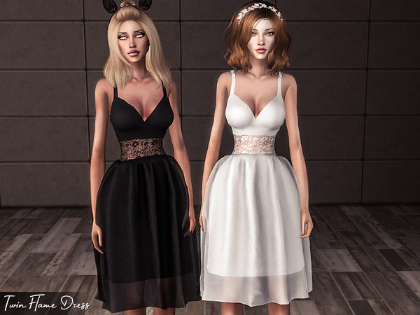 Twin Flame Dress by Genius666 at TSR image 422 Sims 4 Updates