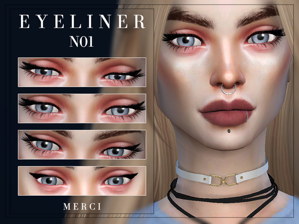 Sims 4 Eyeliner N01 by Merci at TSR