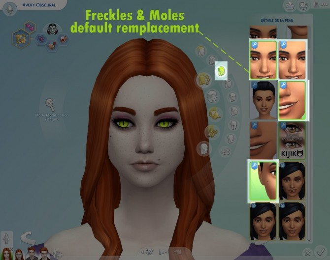 Sims 4 Freckles and Moles by Nova JY at Mod The Sims