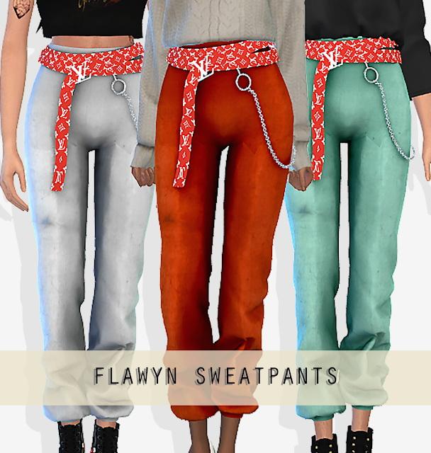 Sims 4 FLAWYN PANTS at Grafity cc