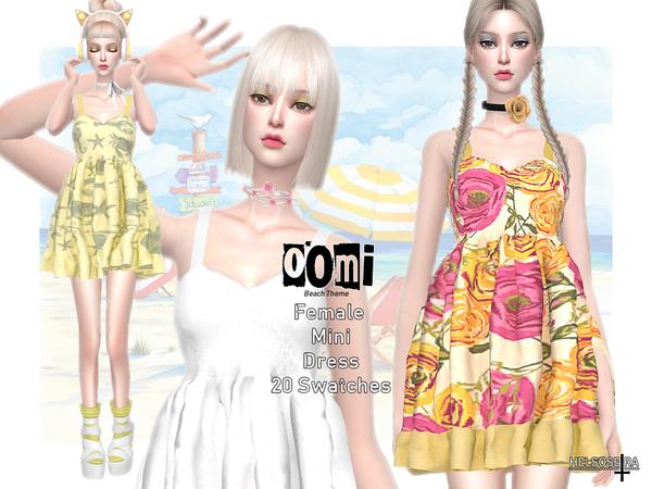 Sims 4 OOMI Mini Dress by Helsoseira at TSR