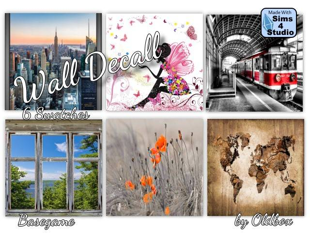 Wall Decals by Oldbox at All 4 Sims image 444 Sims 4 Updates