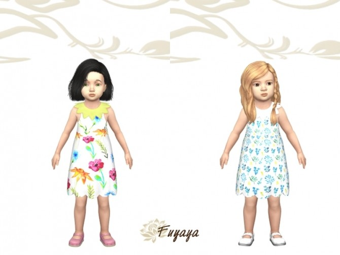 Sims 4 Coralle dress by Fuyaya at Sims Artists
