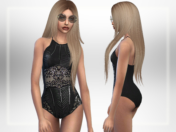 Sims 4 Luxurious Swimsuit by Puresim at TSR