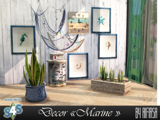 Marine decor for the beach house at Aifirsa image 453 Sims 4 Updates
