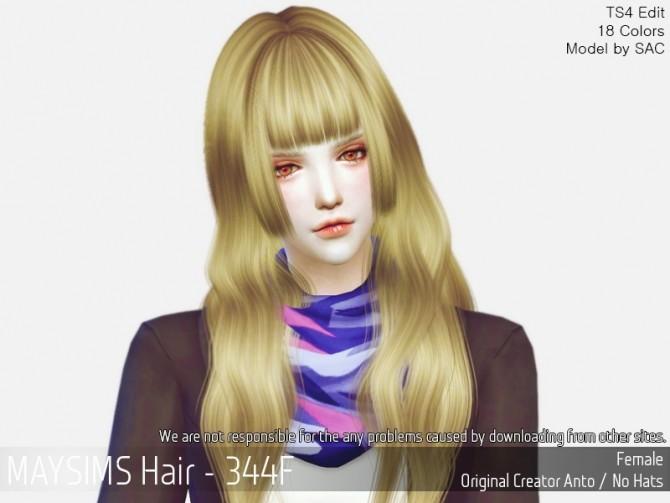 Hair 344F (Anto) at May Sims image 4610 670x503 Sims 4 Updates