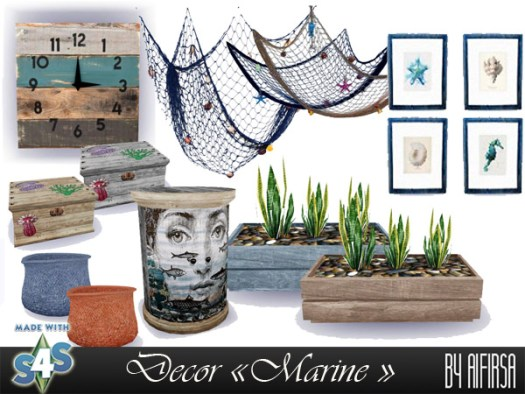 Marine decor for the beach house at Aifirsa image 463 Sims 4 Updates