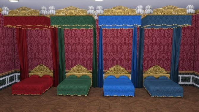 Sims 4 Lit de Parade bed Two versions by TheJim07 at Mod The Sims