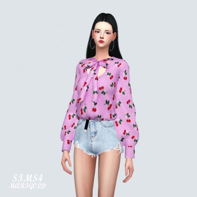 Sims 4 Cherry blouse at Marigold