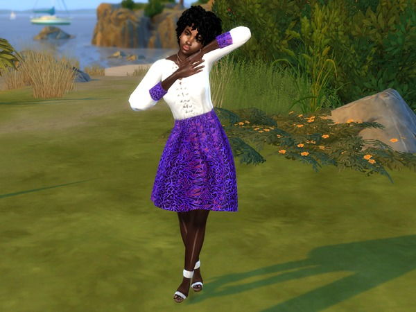 Sims 4 Loosey Curlz hair by drteekaycee at TSR