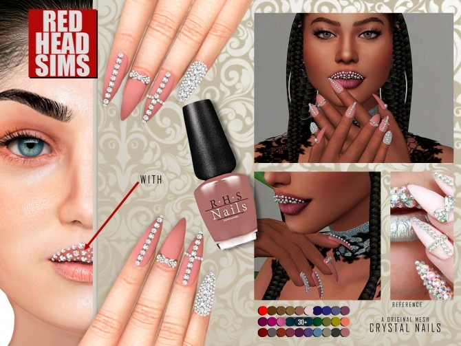 CRYSTAL NAILS by Thiago Mitchell at REDHEADSIMS image 5013 670x503 Sims 4 Updates