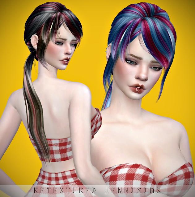 Sims 4 Newsea Lucia Hair retexture at Jenni Sims