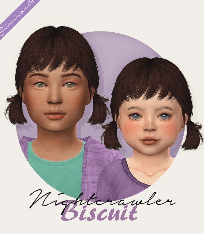 Sims 4 Nightcrawler Biscuit hair kids & toddlers at Simiracle