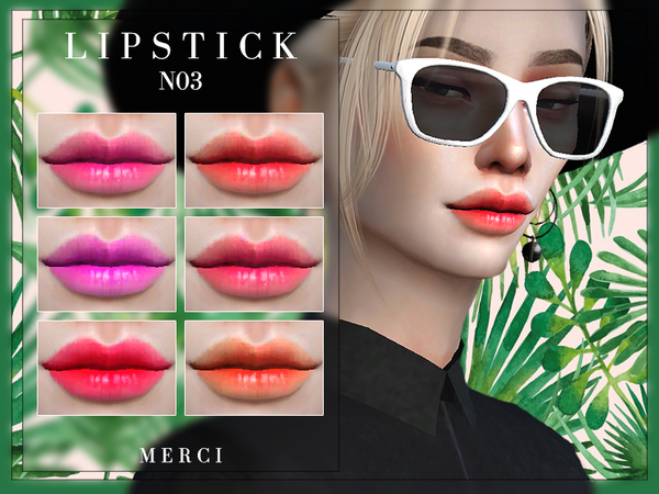 Lipstick N03 by Merci at TSR image 5105 Sims 4 Updates