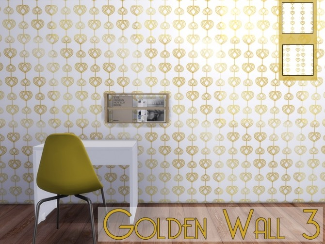 Golden Wall 3 at MODELSIMS4 image 5111 670x503 Sims 4 Updates