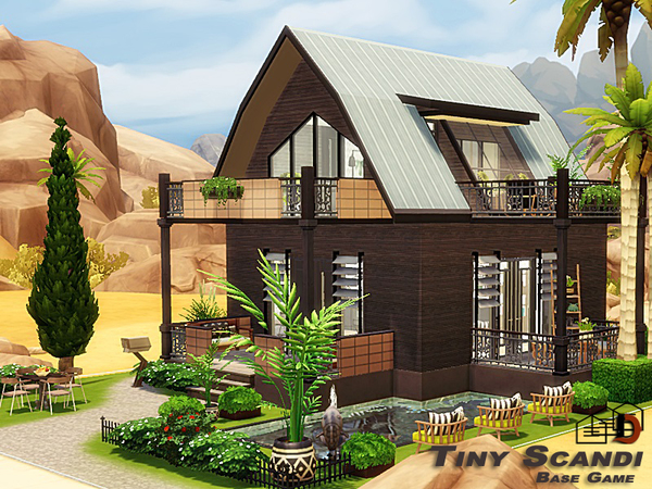 Tiny Scandi house by Danuta720 at TSR image 5112 Sims 4 Updates
