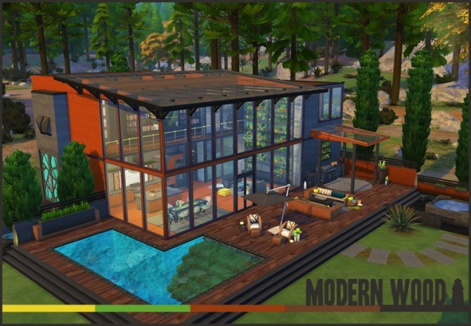 Modern Wood house by Waterwoman at Akisima image 5114 670x464 Sims 4 Updates