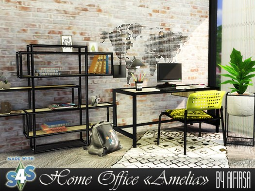 Amelia Home Office at Aifirsa image 5125 Sims 4 Updates