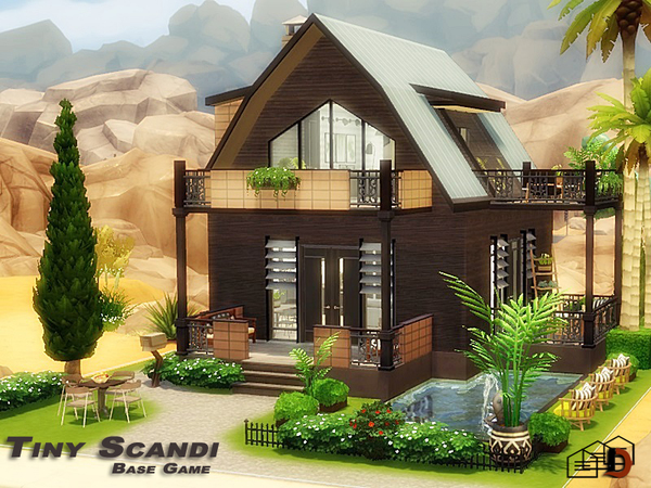 Tiny Scandi house by Danuta720 at TSR image 5210 Sims 4 Updates