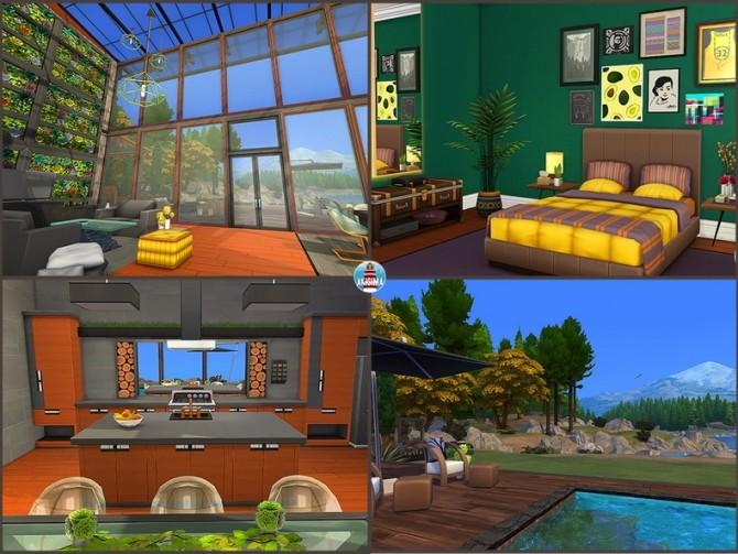 Sims 4 Modern Wood house by Waterwoman at Akisima