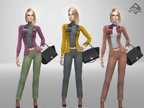 Sims 4 Autumn Outfit 3 by Devirose at TSR