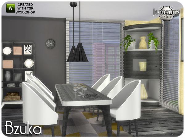 Sims 4 Bzuka dining room by jomsims at TSR