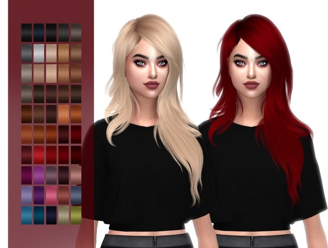 HallowSims Serenity hair retexture at FROST SIMS 4 image 536 670x506 Sims 4 Updates