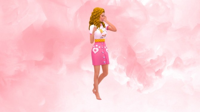 Sims 4 Rosey pink CAS Background at Katverse
