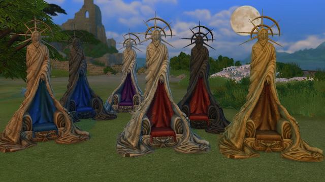 Sims 4 Ricks Throne by BigUglyHag at SimsWorkshop
