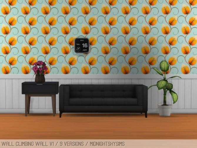 Sims 4 Wall climbing wallpaper at Midnightskysims