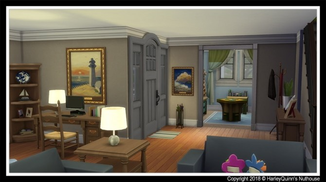 155 Birchwood Dr traditional family home at Harley Quinn's Nuthouse image 579 670x375 Sims 4 Updates
