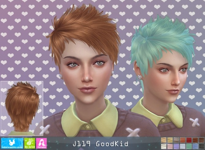Sims 4 J119 Goodkid hair F (P) at Newsea Sims 4