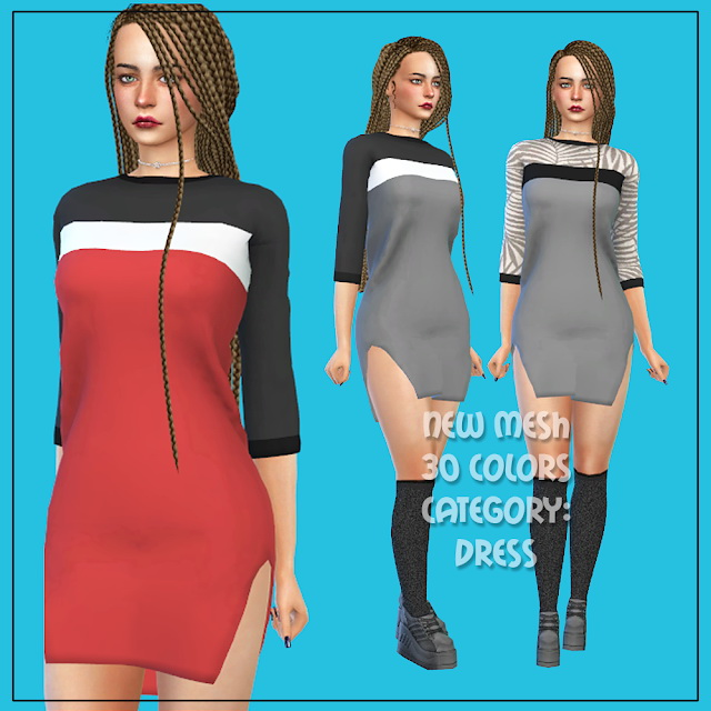Dress 51 at All by Glaza image 594 Sims 4 Updates