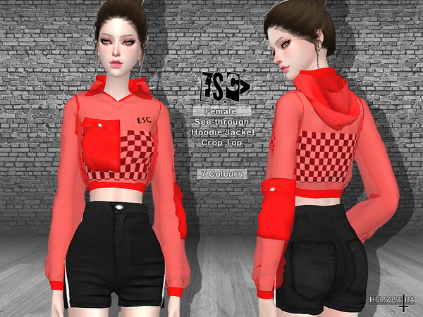Sims 4 ESCv Hoodie Jacket by Helsoseira at TSR