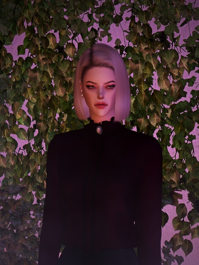 High neck frill blouse at Rona Sims image 6013 670x893 Sims 4 Updates