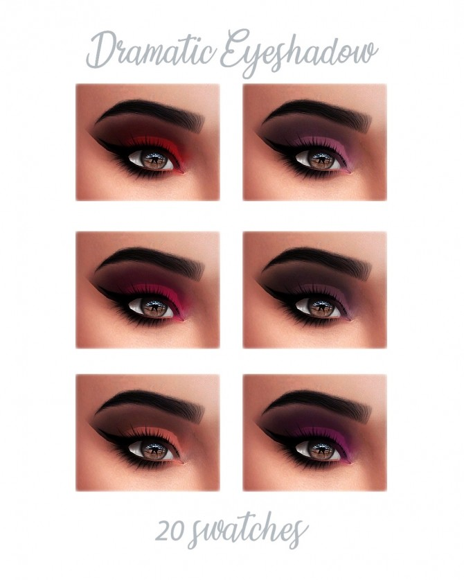 Sims 4 SUMMER COLLECTION eyeshadows & lipstick at FROST SIMS 4