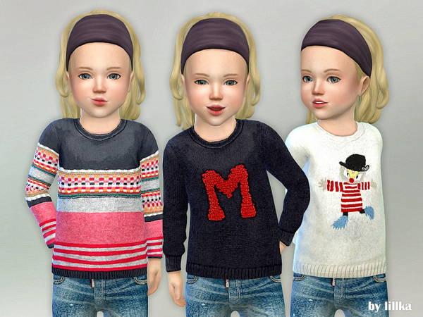 Sims 4 Toddler Wool Sweater by lillka at TSR