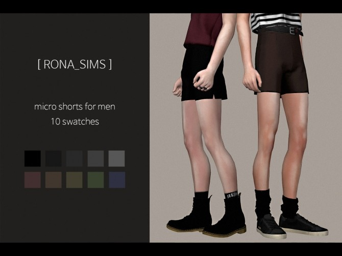 Micro shorts for men at Rona Sims image 6214 670x503 Sims 4 Updates