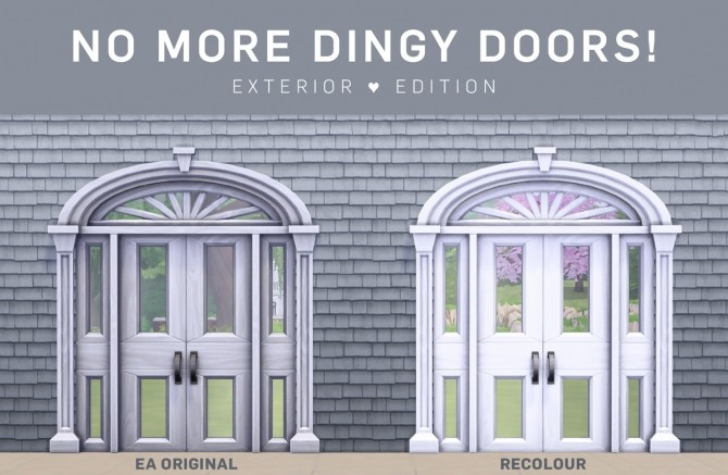 Sims 4 No More Dingy Doors Exterior Edition at SimPlistic