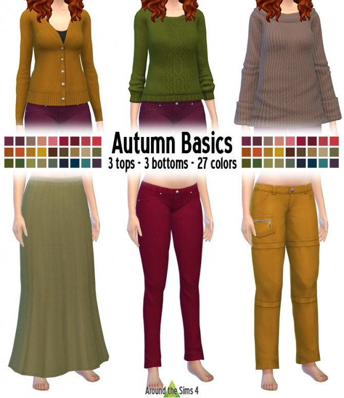 Autumn Basics recolors by Sandy at Around the Sims 4 image 6321 670x776 Sims 4 Updates