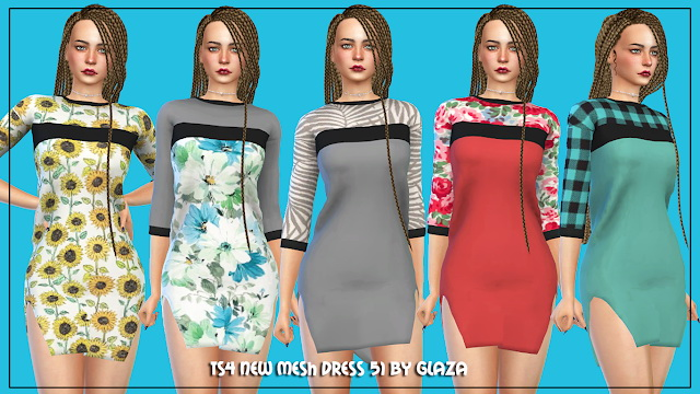 Dress 51 at All by Glaza image 634 Sims 4 Updates