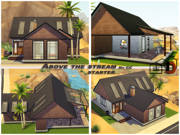 Sims 4 Above the stream starter by Danuta720 at TSR