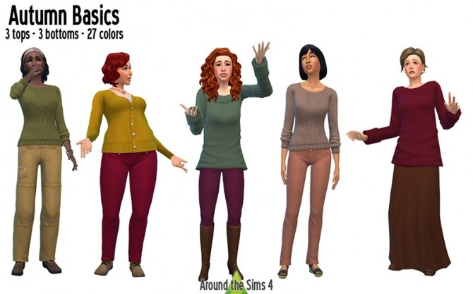 Autumn Basics recolors by Sandy at Around the Sims 4 image 6421 670x417 Sims 4 Updates