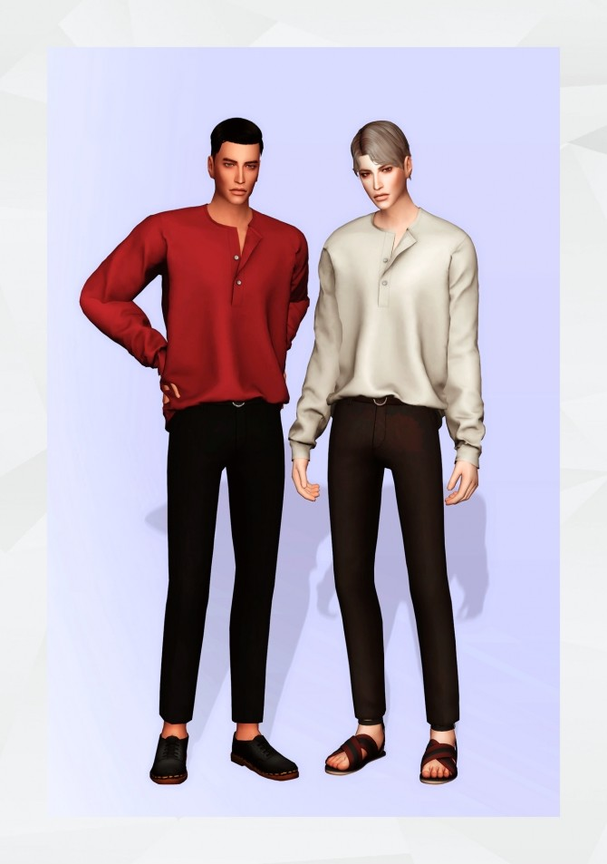 Henry Neck Shirt at Gorilla image 6514 670x953 Sims 4 Updates