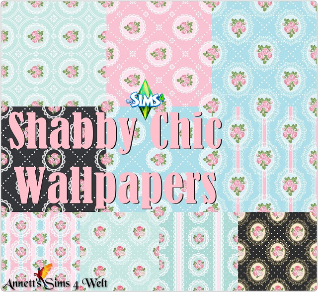 Sims 4 Shabby Chic Wallpapers at Annett's Sims 4 Welt