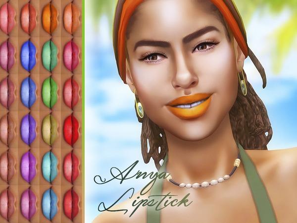 Sims 4 Anya Lipstick by KatVerseCC at TSR