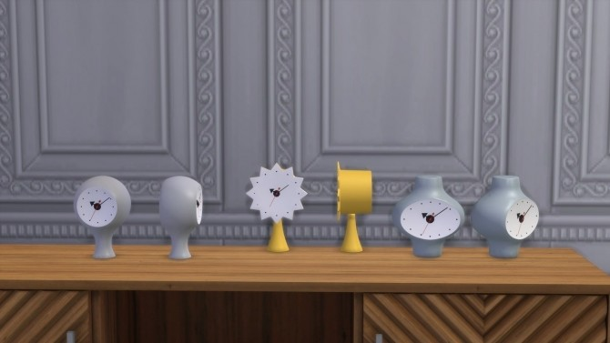 CERAMIC CLOCKS at Meinkatz Creations image 6710 670x377 Sims 4 Updates